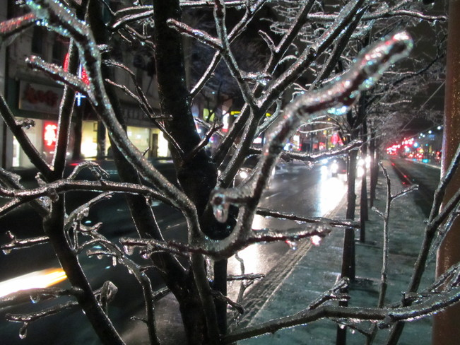 Ice Storm Downtown Chinatown Toronto