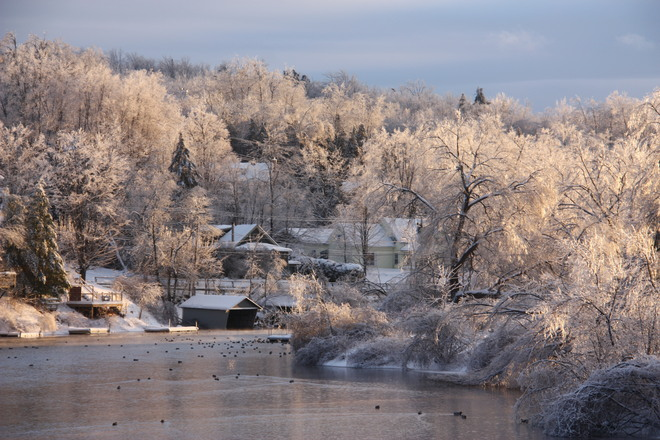 Sunset after the Ice Storm North Hatley, Quebec Canada