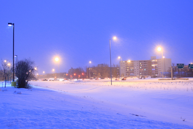 Christmas Eve snow in Winnipeg: