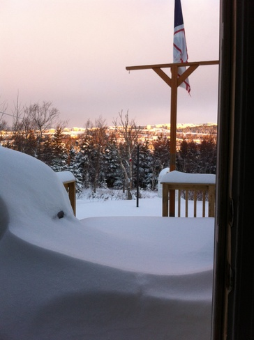 lots of snow Mount Pearl, Newfoundland and Labrador Canada