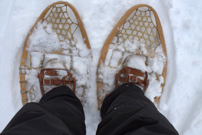 """going snowshoeing"" Timmins, Ontario Canada"