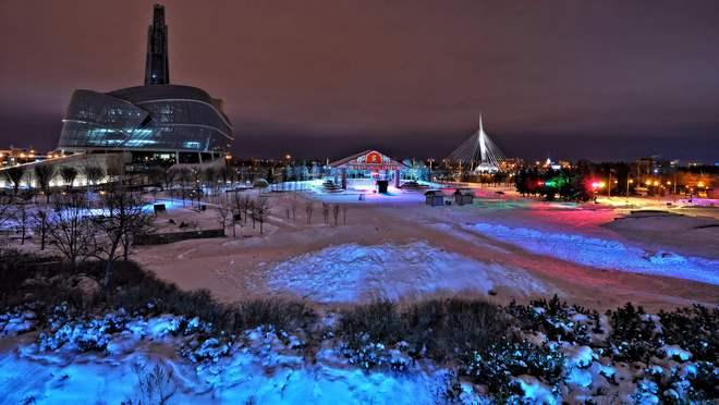 Quiet night at the Museum Winnipeg, Manitoba Canada