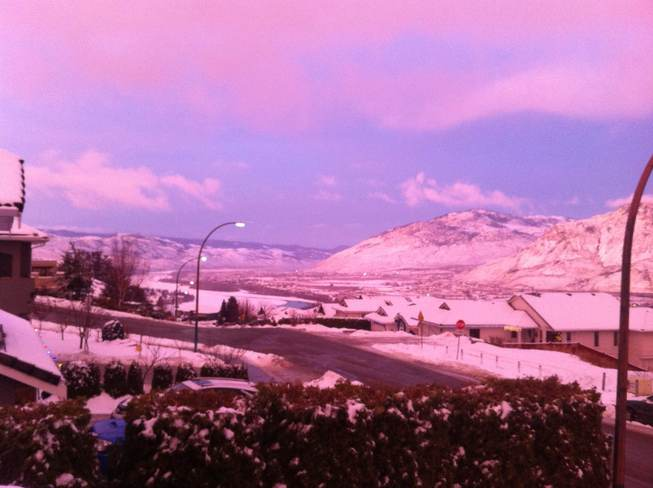 Cotton candy sky Kamloops, British Columbia Canada