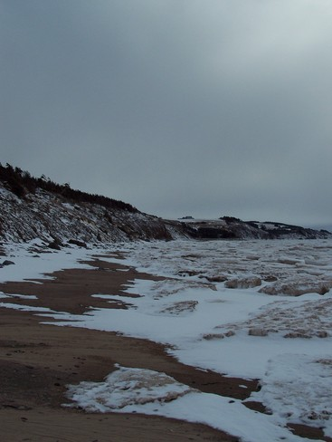 Ice Stands Still by the Ocean in Mabou! Mabou, Nova Scotia Canada