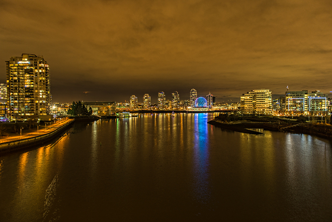 Science Centre from Cambie Bridge Vancouver, British Columbia Canada