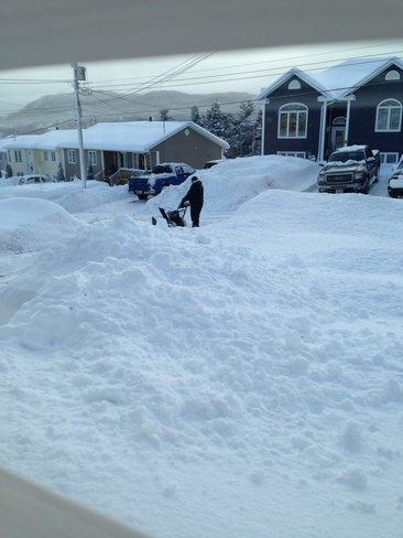 digging out yet again Clarenville-Shoal Harbour, Newfoundland and Labrador Canada
