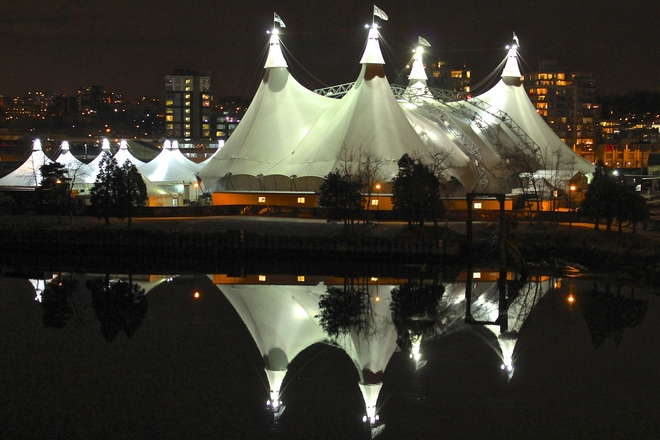 under the big top reflections Vancouver, British Columbia Canada