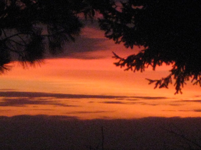 red sky Surrey, British Columbia Canada
