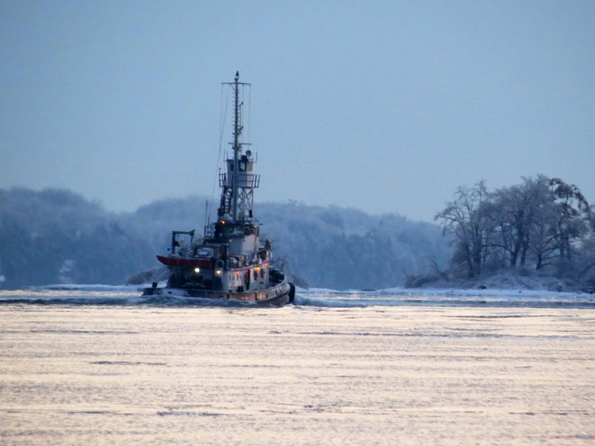 Tugboat on the river Brockville, Ontario Canada