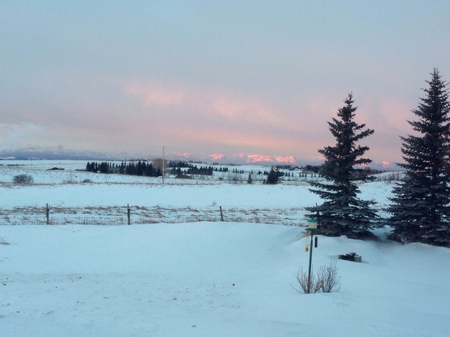 Beautiful morning after a storm Cochrane, Alberta Canada