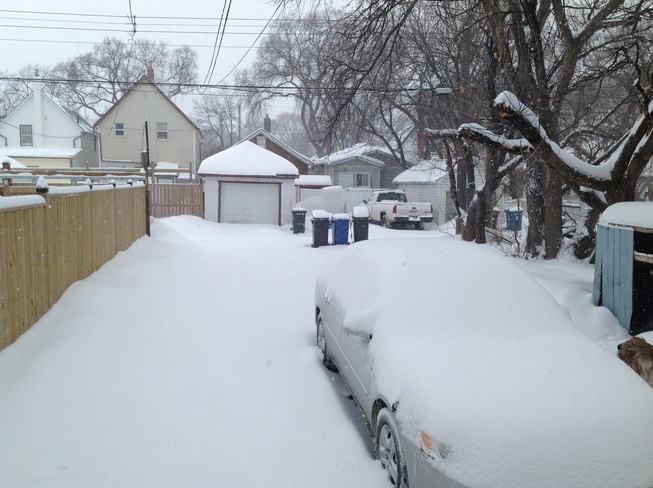 10 inches at least since last night Winnipeg, Manitoba Canada