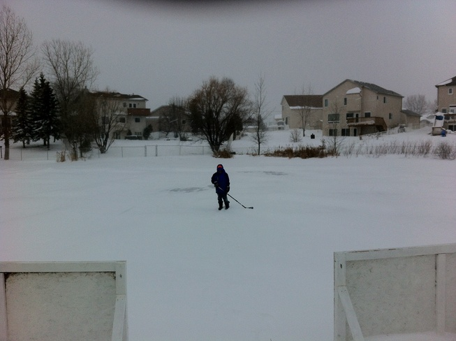 Pond Rink 24 hours later Winnipeg, Manitoba Canada