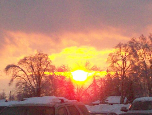 Lovely Boxing Day sunset Belleville, Ontario Canada
