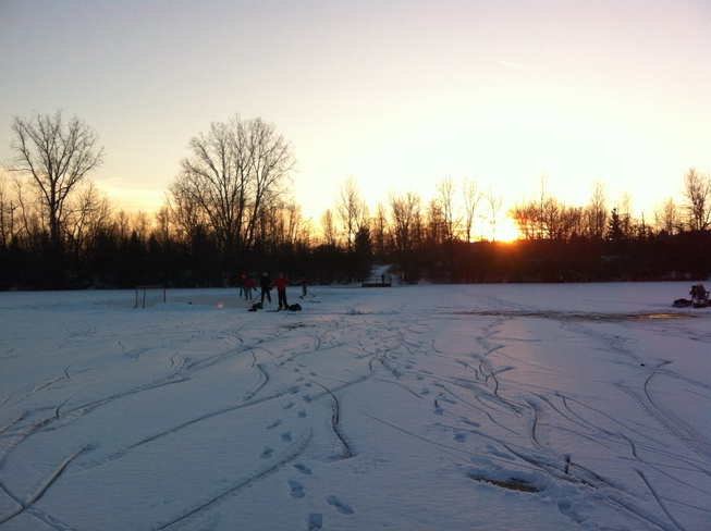 Beautiful spot for pond hockey London, Ontario Canada