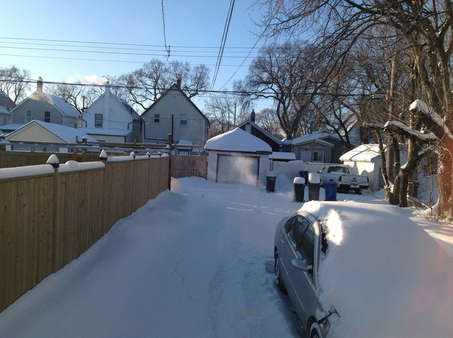 Very cold with windchill -41. Winnipeg, Manitoba Canada