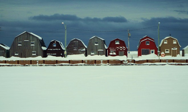 weather at the harbor Malpeque, Prince Edward Island Canada