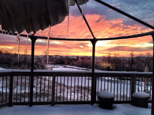 Christmas Morning Sunrise Guelph, Ontario Canada