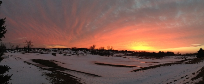 beautiful hamilton sunset Mount Hope, Ontario Canada