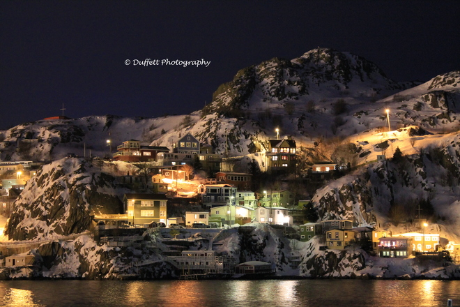 The Battery at night St. John's, Newfoundland and Labrador Canada