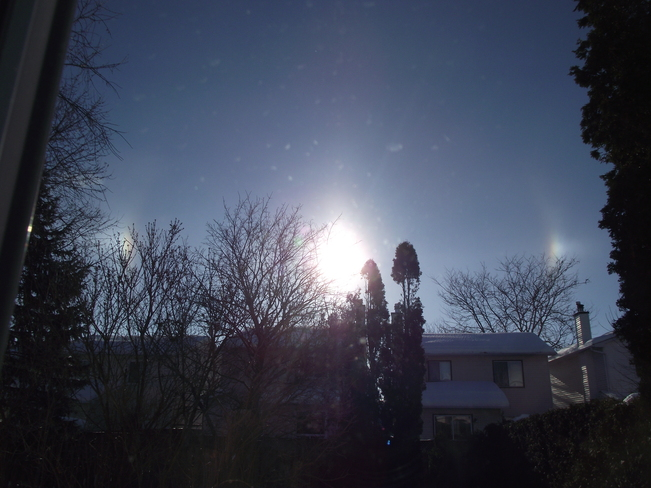 Sun Dog in the cold Orleans, Ontario Canada
