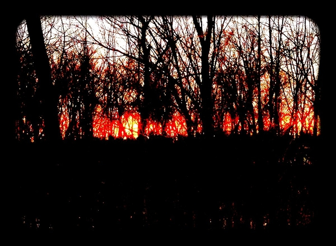 Sunset on fire St. Catharines, Ontario Canada