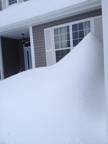 Snow accumulationn in St-André-LeBlanc - NB Cap-Pele, New Brunswick Canada