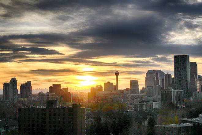 Western Sunset -- Calgary. Calgary, Alberta Canada