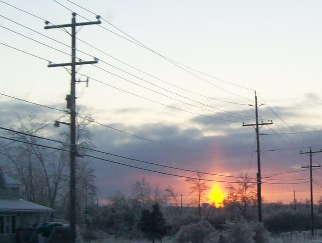 Lovely evening Sunset on Christmas Eve 2013 Belleville, Ontario Canada