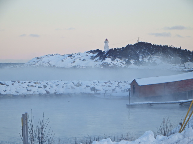 Vapour on the Water Hant's Harbour, Newfoundland and Labrador Canada
