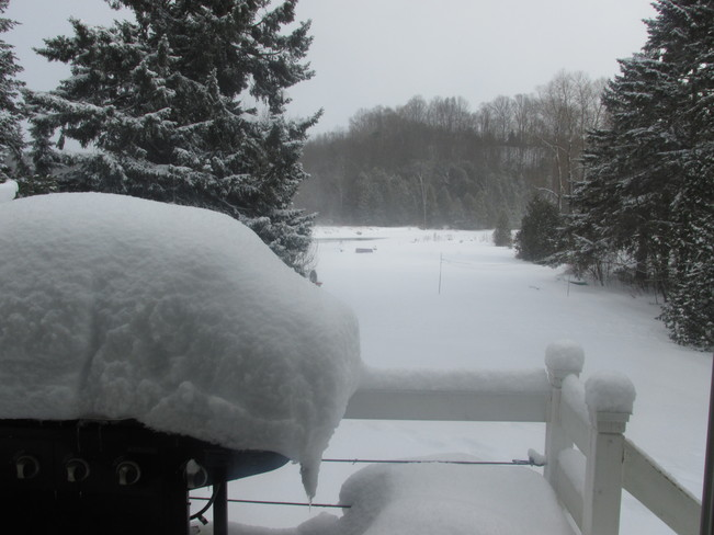 Barbecue Covered in Snow Owen Sound, Ontario Canada