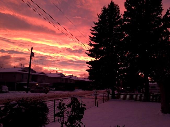 evening sky Kamloops, British Columbia Canada