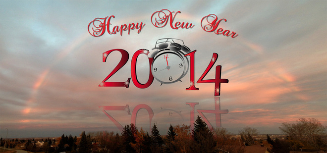 Happy New Year 2014 Calgary, Alberta Canada