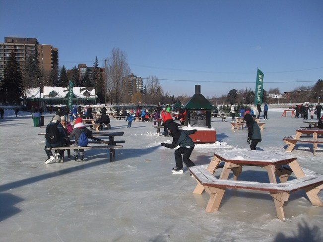 Cold day for a picnic! Ottawa, Ontario Canada