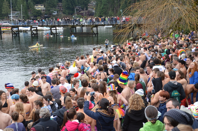 Polar Bear Swim Deep Cove North Vancouver, British Columbia Canada