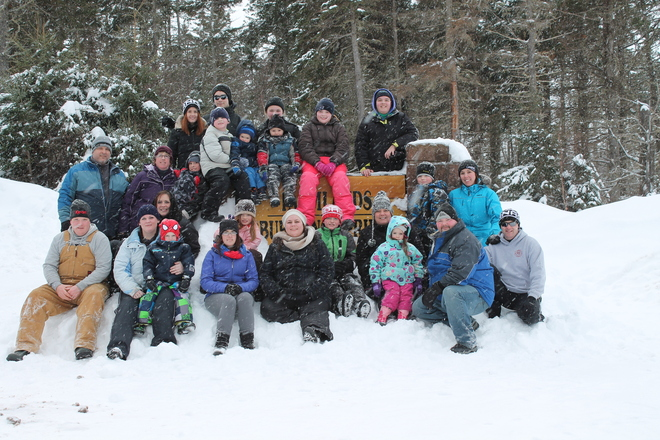 winter cookout/hike Charlottetown, Prince Edward Island Canada