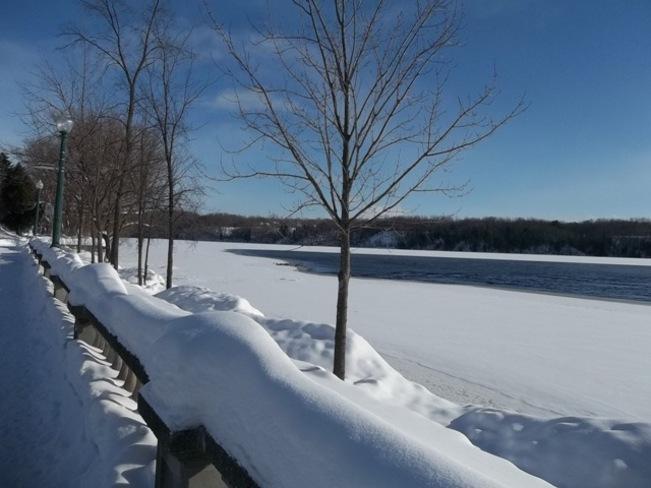 Il fait froid, mais c'est beau! Shawinigan, Quebec Canada