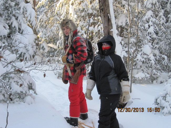snowshoeing in -25 Terrace Bay, Ontario Canada