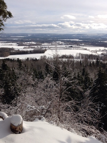 Snowshoeing after the ice storm Centreville, Nova Scotia Canada