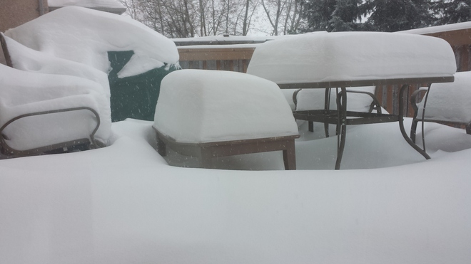 my back deck Winnipeg, Manitoba Canada