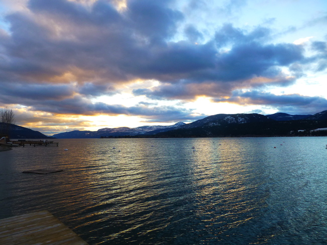 Beautiful Evening at the Okanagan Lake