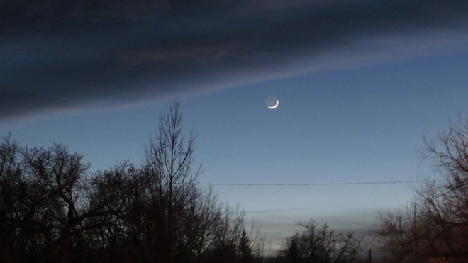 New Year New Moon Stavely, Alberta Canada
