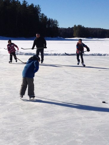 Good old hockey game Apsley, Ontario Canada