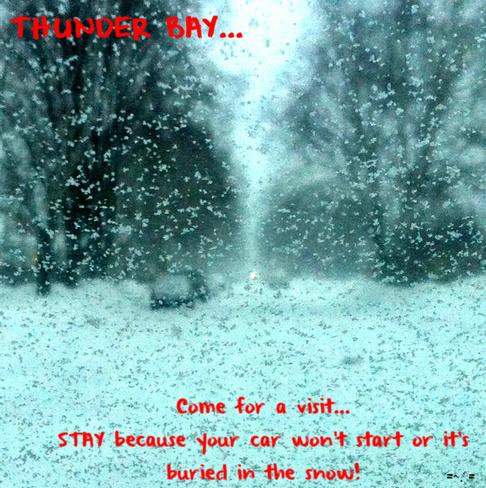 Winter day in Thunder Bay Thunder Bay, Ontario Canada