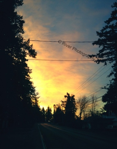 sunrise sky Campbell River, British Columbia Canada