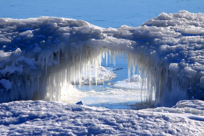 Lake Erie Ice Arch Selkirk, Ontario Canada