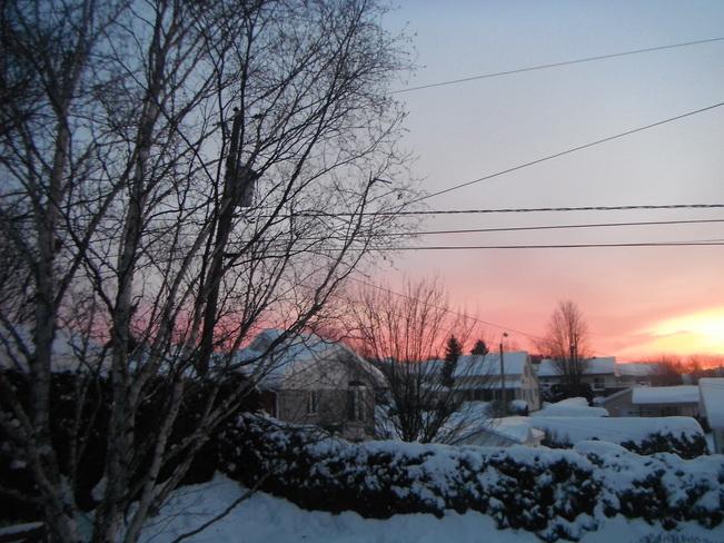 très froid au levé dujour Saint-Georges-Est, Quebec Canada