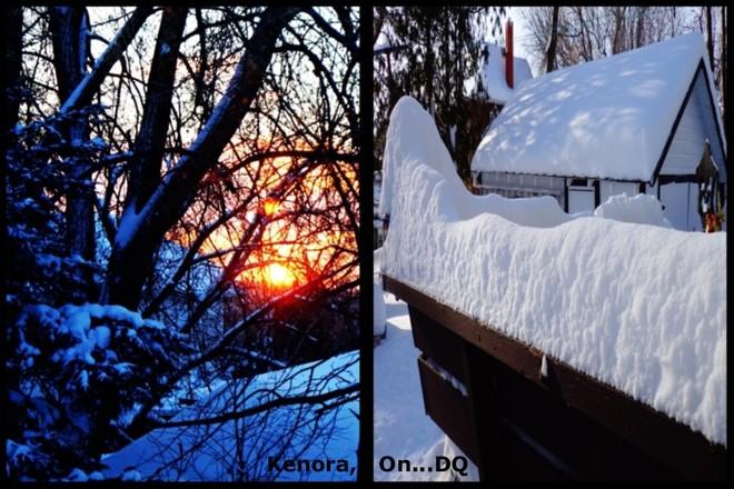 Day After...Sun Up...Mega Snow Kenora, Ontario Canada