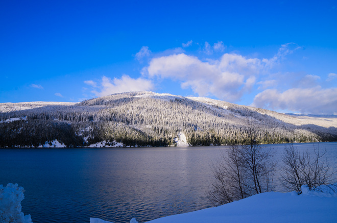 Clear day Revelstoke, British Columbia Canada
