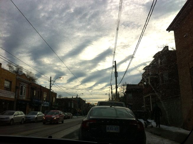 More Clouds over Roncesvalles Toronto, Ontario Canada