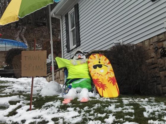 My neighbor snowman